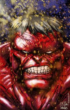 #Red #Hulk #Fan #Art. (Red Hulk) By: DontBornInInk. (THE * 5 * STÅR * ÅWARD * OF: * AW YEAH, IT'S MAJOR ÅWESOMENESS!!!™)[THANK U 4 PINNING!!!<·><]<©>ÅÅÅ+(OB4E)