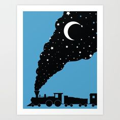 the night train (get on it) Art Print by Jonah Block | Society6