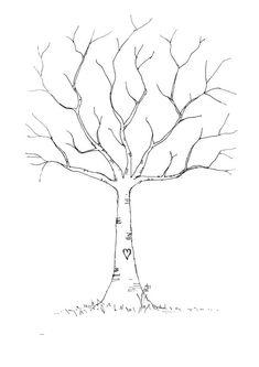 Baby Shower Fingerprint Tree Template - FREE DOWNLOAD