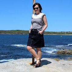 My latest version of Grainline Moss Mini is up on my blog now.  Photos are taken at Maroubra NSW #grainlinestudiofabricepiphaniesgrainlinestudio