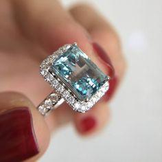 Mom Ring, Aquamarine Jewelry, White Gold Rings, Diamond Engagement Rings, Diamond Rings, Wedding Rings, Jewelery, Gems Jewelry, Gemstone Jewelry
