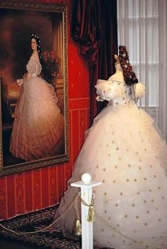 Sissi.. The fabulous gown that Sissi wore in the portrait! …