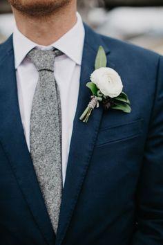 knit grey tie