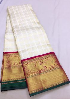 Pure Kanchipuram silk sarees at weavers price pl contact us at for more collections and details Wedding Silk Saree, Bridal Wedding Dresses, Bridal Lehenga, Ikkat Pattu Sarees, Kanchipuram Saree, Indian Fashion, Women's Fashion, Bridal Braids, Simple Sarees