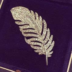 Feather brooch new