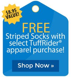 FREE Striped Socks with select TuffRider� apparel purchase! Stirrup Leathers, Cyber Monday Sales, Holiday Deals, Striped Socks, Black Friday Deals, The Selection, Free