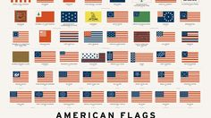 'American Flags', An Art Print Featuring the Evolution of Star-Spangled Banners Flown Throughout American History