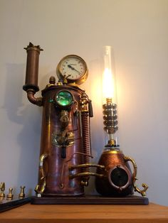 Table Lamp, Retro, Lighting, Home Decor, Homemade Home Decor, Light Fixtures, Table Lamps, Rustic, Lights