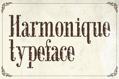 Harmonique Typeface by Alterdeco Inc. on @creativemarket