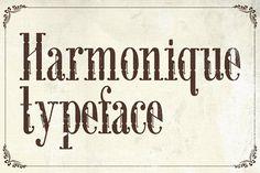 Harmonique Typeface by Alterdeco Inc. on @creativemarket
