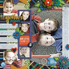 Digital Scrapbook Page Inspiration