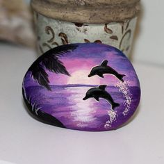 Image result for painted sunset rocks
