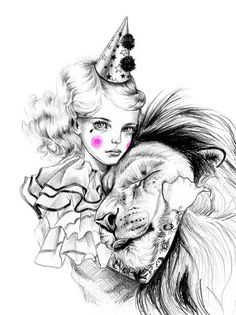 'The liontamer' a piece by Julie Filipenko [you can buy a print from her etsy shop]. Really reminiscent of The Night Circus by Erin Morgenstern. <3