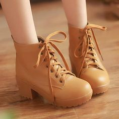 Buy '77Queen – Lace-Up Chunky-Heel Short Boots' with Free International Shipping at YesStyle.com. Browse and shop for thousands of Asian fashion items from China and more!