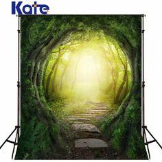 Kate 5x7ft enfants photographie décors arbre vert écran jardin photo toile de fond forêt paysage milieux pour photo studio