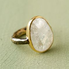 Terrain Moonstone Disc Ring #shopterrain
