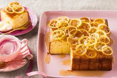 Candied lemons are back in fashion on top of this moist lemon and almond mascarpone cake.