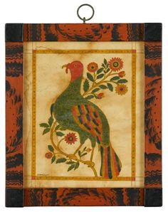 Fraktur Bird -- so colorful!  David Y. Ellinger - Artist..