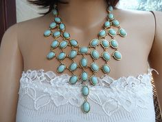New daisynecklace Mint Bubble Statement by luckyjewelryworld, $15.90