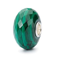 New for Holiday 2015 from Trollbeads, the Faceted Malachite Stone Bead.