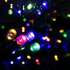 64 led battery operated outdoor and indoor string lights with auto