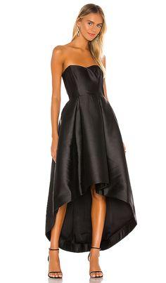 Shop for Parker Black Roxanne Dress in Black at REVOLVE. Satin Dresses, Silk Dress, Sexy Dresses, Strapless Dress, Parker Black, Best Leggings, Revolve Clothing, Ladies Dress Design, Spring Outfits