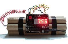 Awesome alarm clock!  http://themostcoolgadgets.com/c4-alarm-clock/