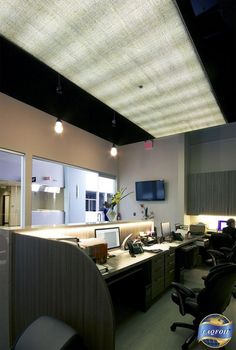 office ceiling light covers. We Could Do A Stretch Ceiling Like This In The Basement; Add Strip For Interest (or To Cover Bigger Lights) And Leave Rest Painted But Open Office Light Covers