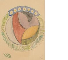 Duncan Grant (British, 1885-1978) Design for a plate.