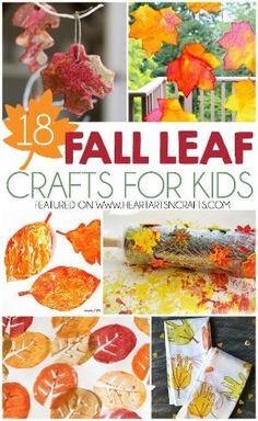 18 Fall Leaf Crafts For Kids by nancy