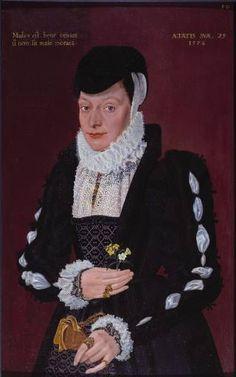 Portrait of A Lady. By an unknown British artist, Tate Britain, London, England Renaissance Mode, Renaissance Fashion, Renaissance Clothing, 1500s Fashion, 16th Century Clothing, 16th Century Fashion, 14th Century, Elizabethan Costume, Elizabethan Era