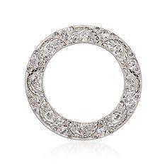 Ross-Simons - C. 1970 Vintage 2.00 ct. t.w. Diamond Open Circle Pin in Platinum - #872529