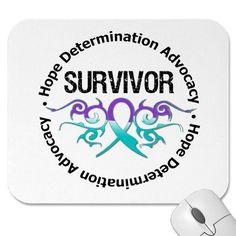 Survivor Tribal Ribbon Domestic Violence Mousepads by giftsforawareness