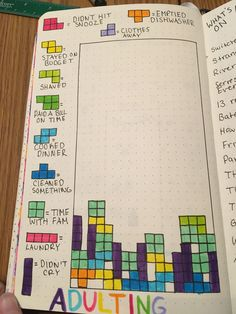 Bullet journal adult Tetris #bulletjournaljunkies