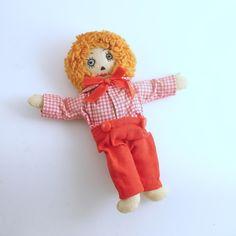 Vintage Boy Doll Raggedy Andy Rag Doll by efinegifts on Etsy