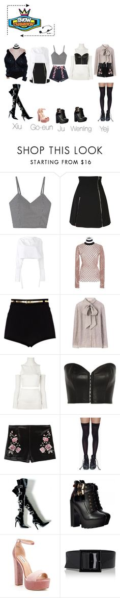 """Show champion // [goodbye stage] Dazed"" by krest-offical ❤ liked on Polyvore featuring Jeremy Scott, E L L E R Y, Alexander Wang, River Island, Tory Burch, MM6 Maison Margiela, Kiki de Montparnasse, Leg Avenue, Steve Madden and Yves Saint Laurent"