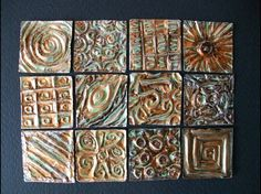 Metal inchies - we've done this at Orange Banana Art with one big sheet, but multiple smaller ones would be great! Feuille Aluminium Art, Metal Tape Art, Tin Foil Art, Inchies, Pewter Art, Sculpture Metal, Metal Embossing, Art Lessons Elementary, Middle School Art