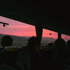 Sunsets on the train