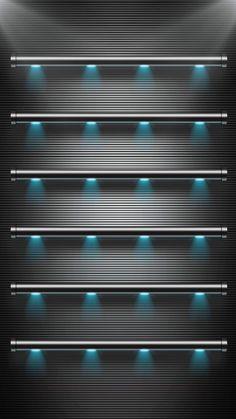 ↑↑TAP AND GET THE FREE APP! Shelves Stylish Black Lights Metallic Texture Minimalistic HD iPhone 6 plus Wallpaper
