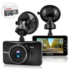 """Amazon.com: OldShark 3"""" 1080P Dash Cam with 32GB Card, 170 Wide Angle Car On Dash Video, G-Sensor, Night Vision, WDR, Parking Guard, Loop Recording Dashboard Camera Recorder: Electronics"""
