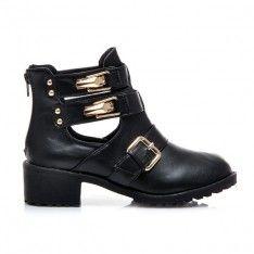 BUTY CUT OUT, SZTYBLETY K809BPU /S3-97P Biker, Boots, Shopping, Fashion, Crotch Boots, Moda, Fashion Styles, Shoe Boot, Fashion Illustrations
