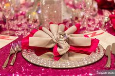 Bling on bling! Our Bling Mirror Chargers looked fabulous with this unique napkin ring! Many thanks to the Wyndham Grand Orlando Resort Bonnet Creek, Castaldo Studio Photo & Video, Lee Forrest Design LLC, Modern Bridal Shop Orlando, Florida, Sprinkles Custom Cakes, Enchanting Event Designs & Planning and The Invitation Lounge.
