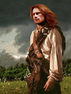 """Artistic rendering for the character, Jamie Fraser, from the """"Outlander"""" book series. Via Outlander Wiki"""