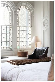 Interior home design ideas World of Modern by Blaze Makoid Architecture Beautiful windows! Arched Windows, Big Windows, Lead Windows, Windows Image, Shaped Windows, French Windows, Church Windows, Ceiling Windows, Beautiful Bedrooms