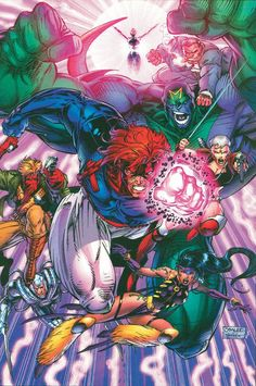 WildC.A.T.S promo image by Jim Lee - This was one of the first images I ever saw for WildCATS. It was on the cover of Previews in 1992 and I couldn't wait to see what the deal was with these characters.