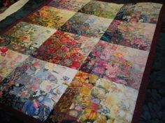 water color quilt top
