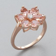 """""""Simply Vera"""" Vera Wang 14k Rose Gold Over Silver Ring; not usually a fan of rose gold but love the color of the zirconia and the way it complements the gold!"""