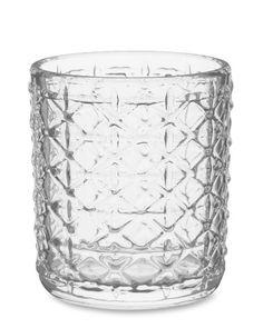 Lattice Double Old-Fashioned Glasses, Set of 4  $40.00