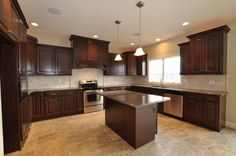 Kitchen:  Cabinet color and size