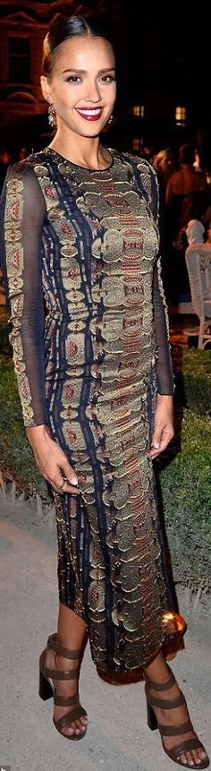 Jessica Alba - Tory Burch Paris Flagship Opening & After Party